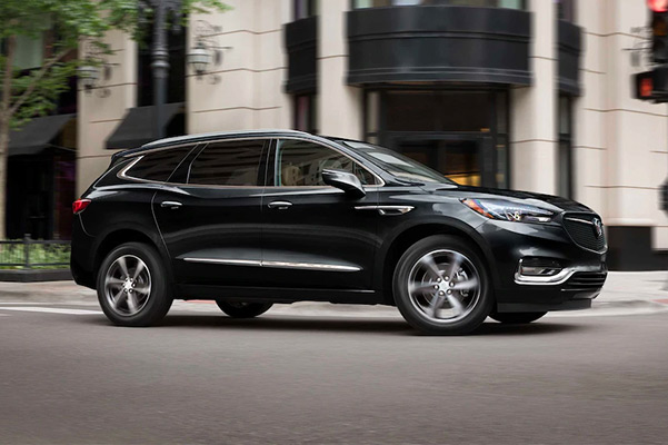 2021 Buick Enclave driving through town