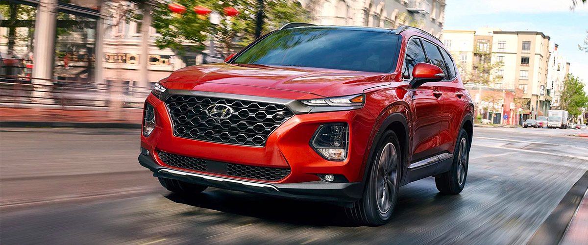 The 2019 Hyundai Santa Fe. Header