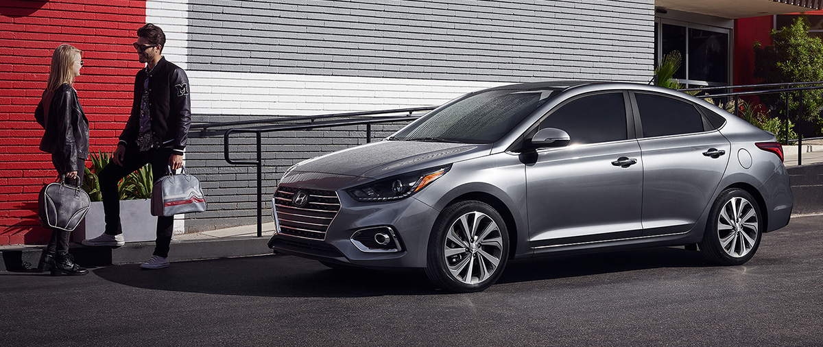 2018 Hyundai Accent parked