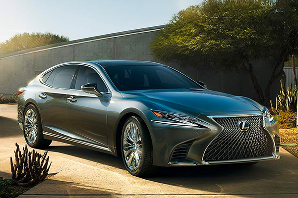 2020 Lexus LS parked in a driveway