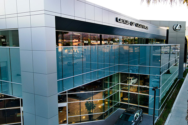 Exterior image of the Lexus of Glendale dealership