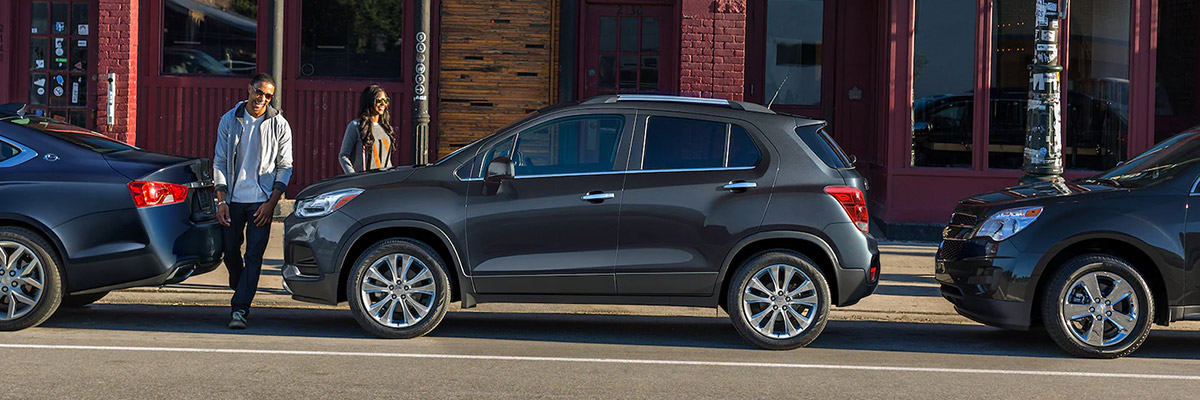 Couple getting into Chevy Trax