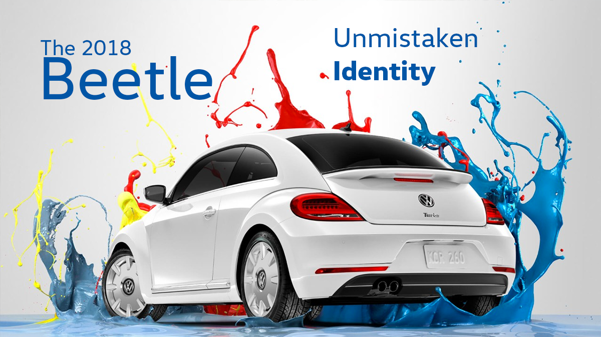 2018 VW Beetle in paint splash