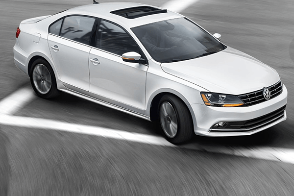 2018 VW Jetta turning corner