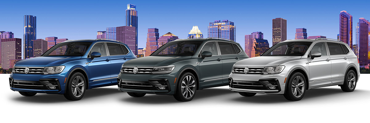 The 2019 Tiguan R-Line lineup