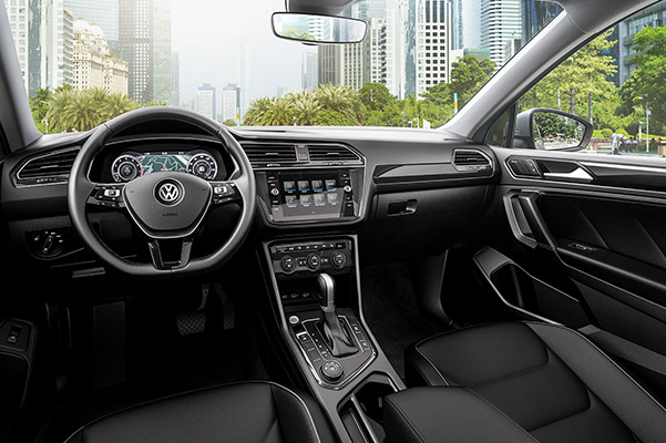 The 2019 Tiguan interior