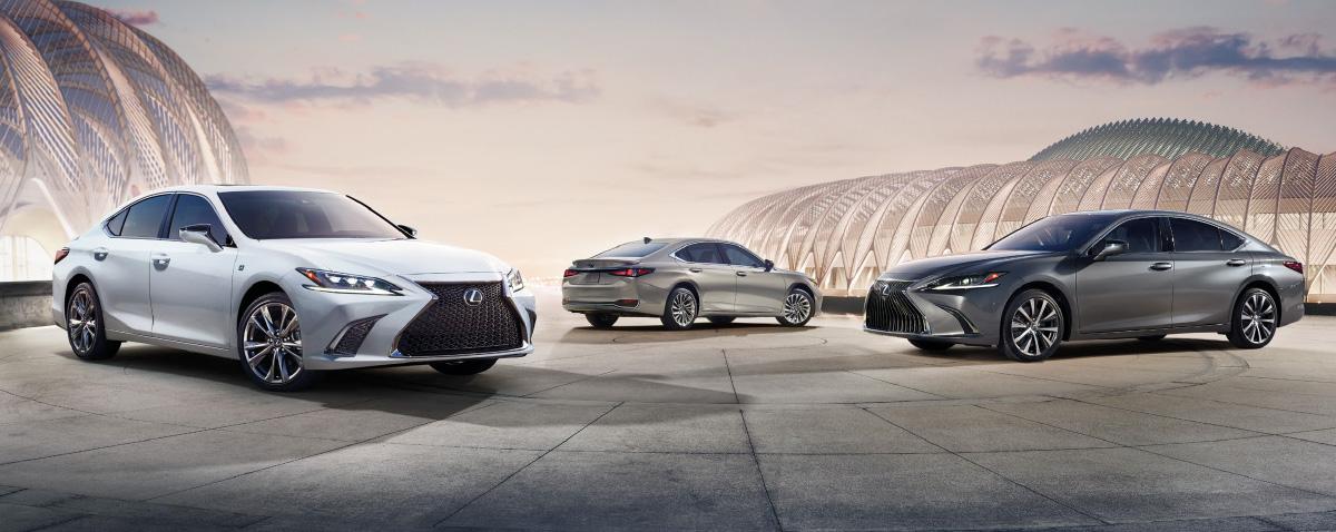 2019 Lexus ES on road