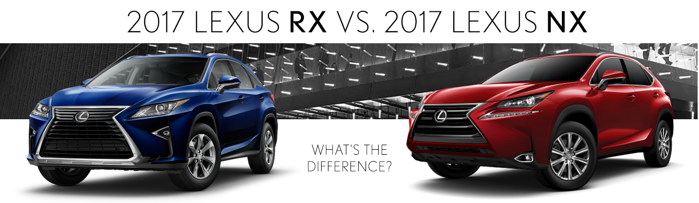 Lexus Nx Vs Rx >> Compare 2017 Lexus Rx And Nx Lexus Dealer Near Mcallen Tx