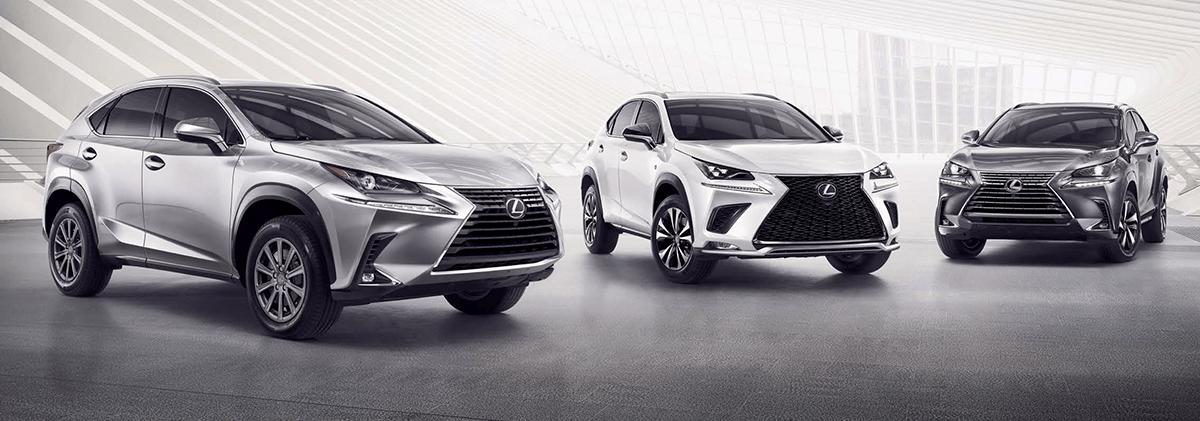 The 2019 Lexus NX lineup
