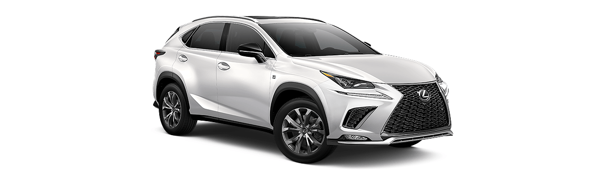 The 2019 Lexus NX white cut