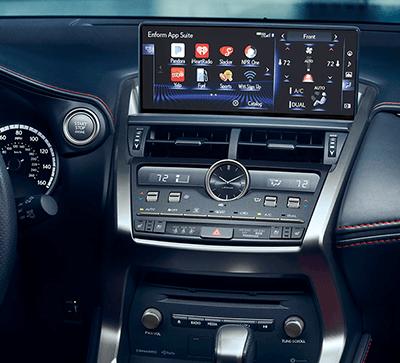 The 2019 Lexus NX interior dashboard