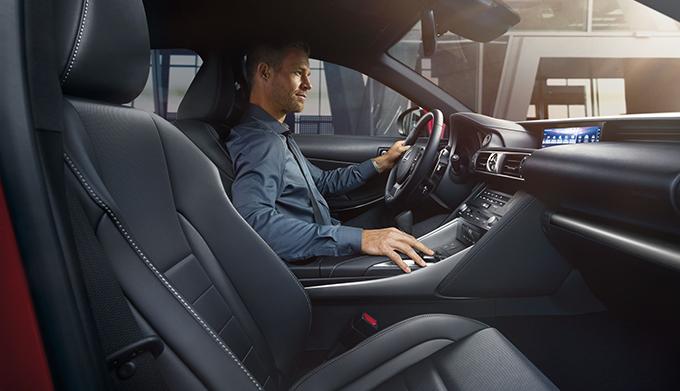 man driving lexus