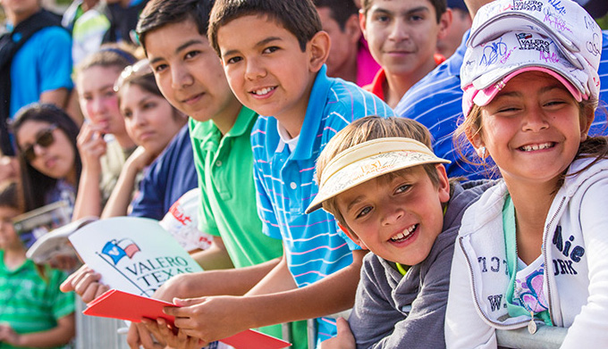 Kids at Valero Texas Open