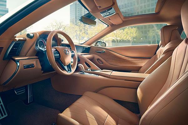 2021 Lexus LC interior side