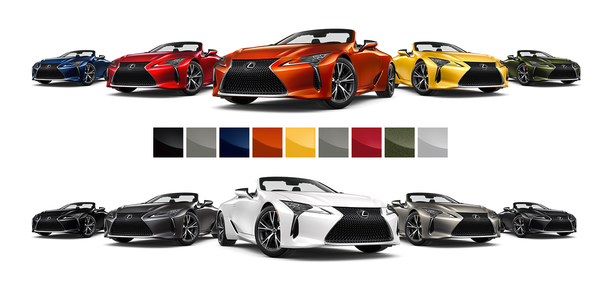 2021 Lexus LC 500 convertible color options