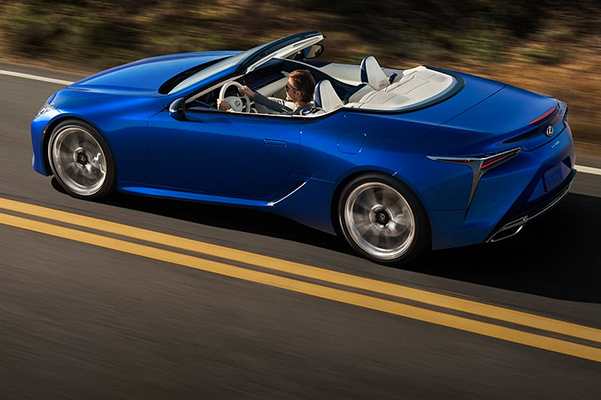 2021 Lexus LC 500 convertible on road