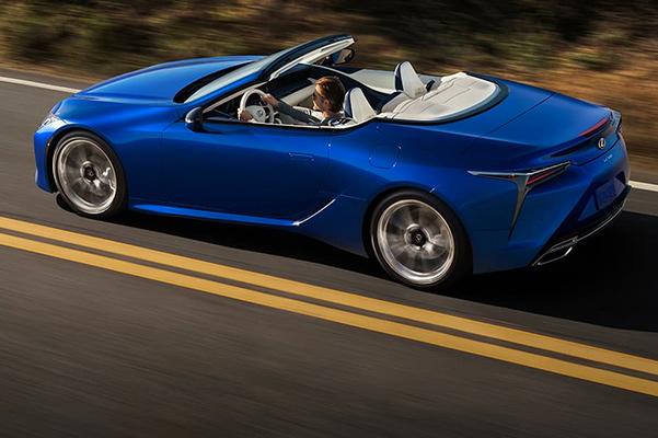 2021 Lexus LC 500 convertible on road