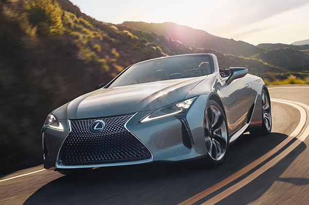 2021 Lexus LC 500 convertibleon highway