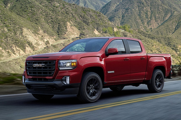 2021 GMC Canyon on road