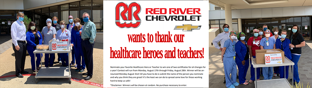 Red River Chevrolet says thanks